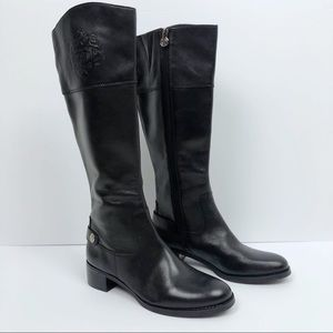 Etienne Aigner Black Riding Black Leather Boots